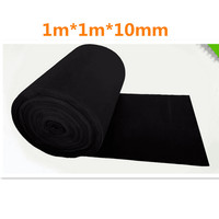 Activated Carbon Sponge Filter Net Fiber Filter 1m*1m*10mm For Vacuum Cleaner Purifier Air Conditioner Smoke Lampblack Machine