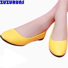 Мода скольжения на обувь для женщин квартиры ультра легкий женщины плоские обувь конфеты цвет мягкий верхний бренд дизайнер ladiess платье обувь 7a4