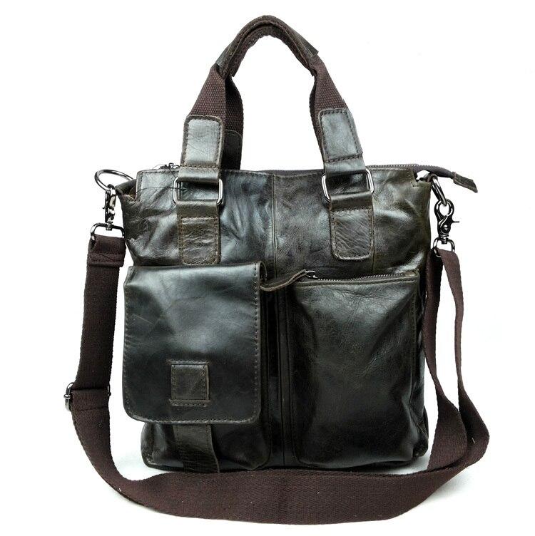 Nesitu Promotion High Quality 100% Guarantee Real Genuine Leather Cowhide Men Messenger Bags Briefcase Portfolio Male Bag #M259