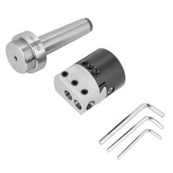 CNC MT3-M12 Arbor Adapter MT3-M12 Kegel Spannzange Fräsen Arbor Adapter und 2 Zoll Drehmaschine Bohren Kopf