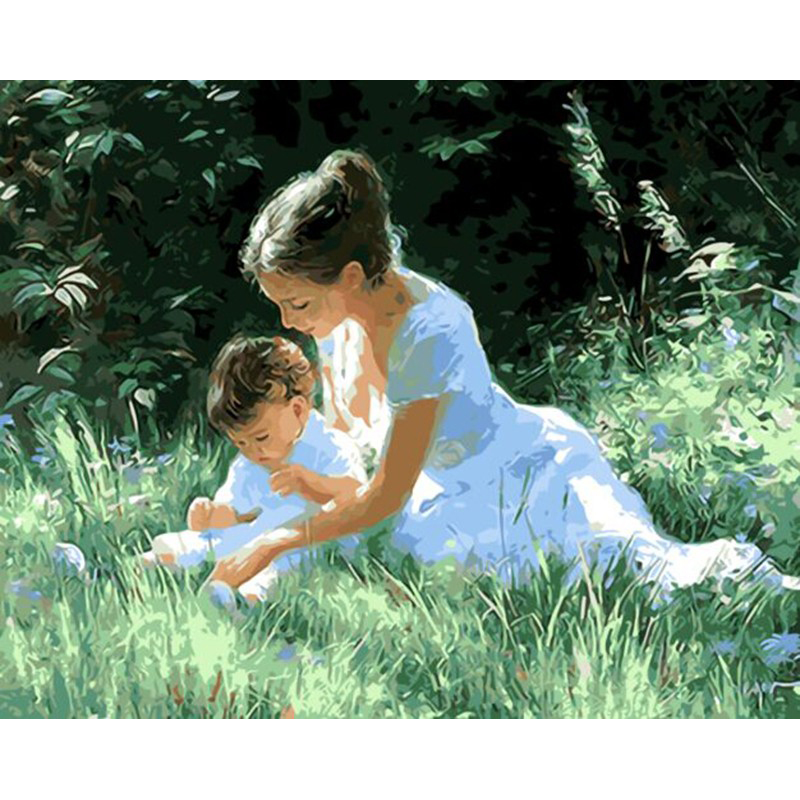 DIY Digital Painting By Numbers women children oil painting mural Kits Coloring Wall Art Picture Gift frameless