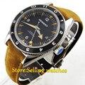 DEBERT 41mm Black dial data 5ATM MIYOTA cerâmica bezel Automatic mens watch