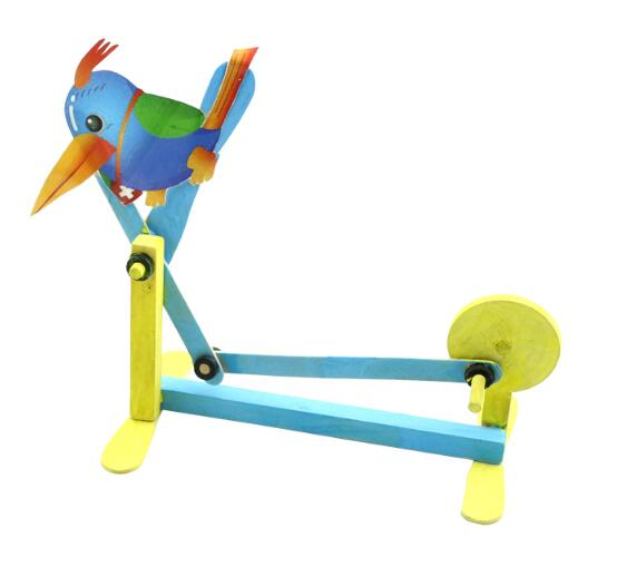 Handmade Wooden Woodpecker Model DIY Science And Technology Small Production Scientific Experiments Toys Model Accessories