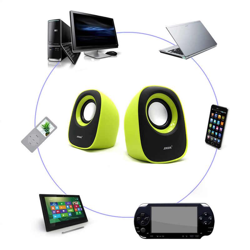 רמקולים Mp3 סטריאו אודיו מוסיקה נגן נייד רמקול Soundbar רמקול מיני אלחוטי רמקול סדק LED TF USB סאב