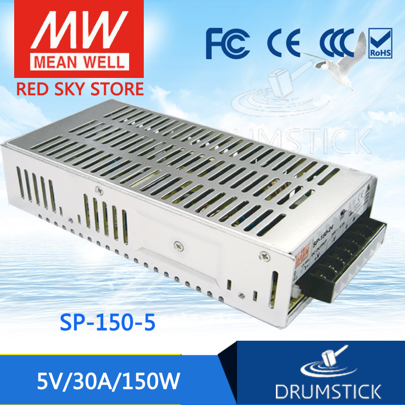 Hot sale MEAN WELL SP-150-5 5V 30A meanwell SP-150 5V 150W Single Output with PFC Function Power Supply [mean well] original sp 150 27 27v 5 6a meanwell sp 150 27v 151 2w single output with pfc function power supply
