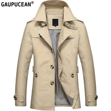 100% Cotone Uomini Jacket 2018 Primavera Autunno Inverno Nuovo Modello Uomo abbigliamento Maschile cappotto Pulsanti Asia Dimensione Khaki Nero Verde Uomo Giacche
