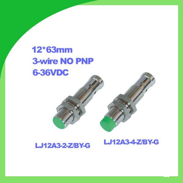 LJ12A3-2-Z/BY-G LJ12A3-4-BY-G 6-36VDC 3-תיל NO PNP מדידת מרחק חיישן קרבת inductive חיישן קרבת M12 ללא כבלים