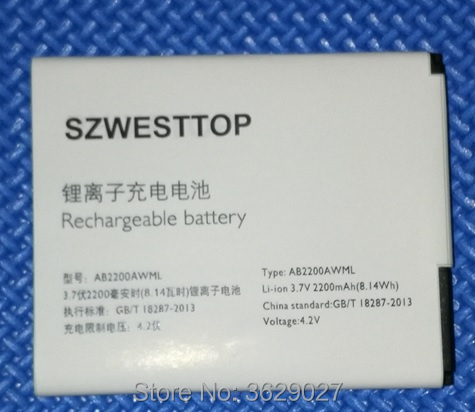 SZWESTTOP d'origine AB2200AWML batterie Pour philips W3500 W3509 téléphone portable AB2200AWMT pour XENIUM CTW3500 CTW3509 smart Mobile