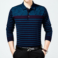 Fashion Wool blends Knitted Bussiness Men Polo shirt 2016 Autumn turn-down collar long sleeve brand clothing male camisa polo