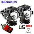 Huiermeimi 2 STÜCKE Motorrad Scheinwerfer U5 LED 12 V 24 V 125 Watt Motorrad Scheinwerfer Moto Zubehör Scheinwerfer Scheinwerfer zusatzscheinwerfer