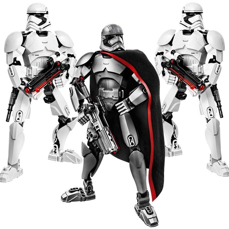 Spcae Wars Building Blocks Darth Vader Storm Trooper General Grievous Elite Praetorian Guard Figure Toy Compatible MOC Bricklink