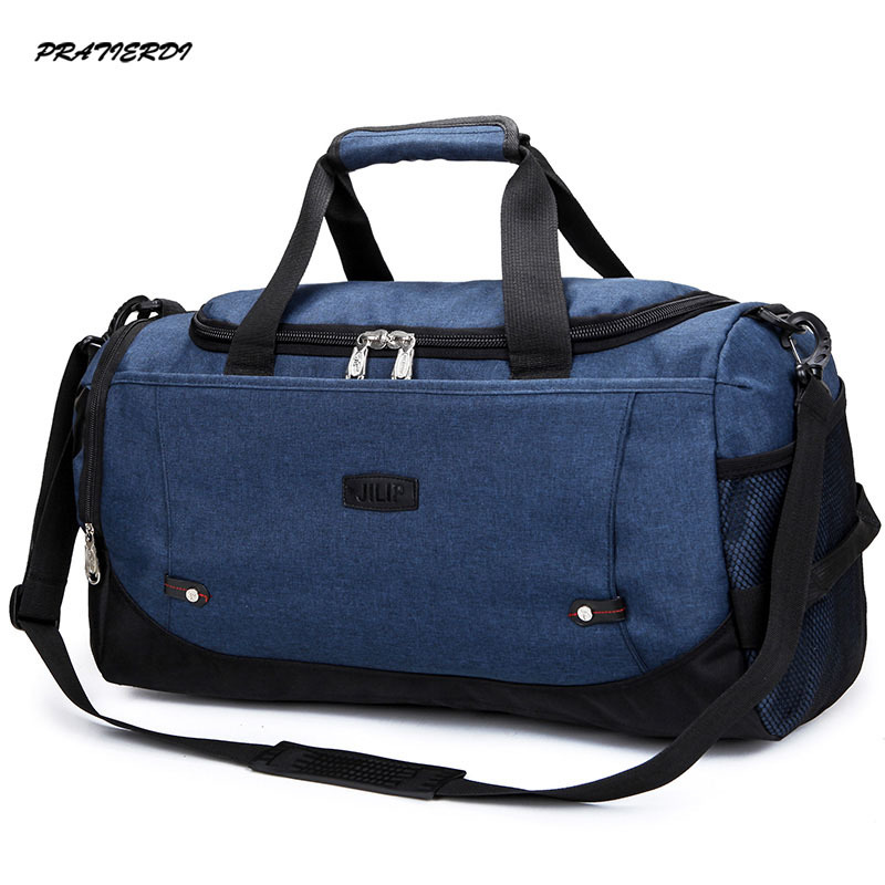 Large Gym Sports Duffle Bag Black Grey Men And Women Fitness Shoulder Gym  Bag Hot Training Female Yoga Duffel Bag 2017 a0974312c2df1