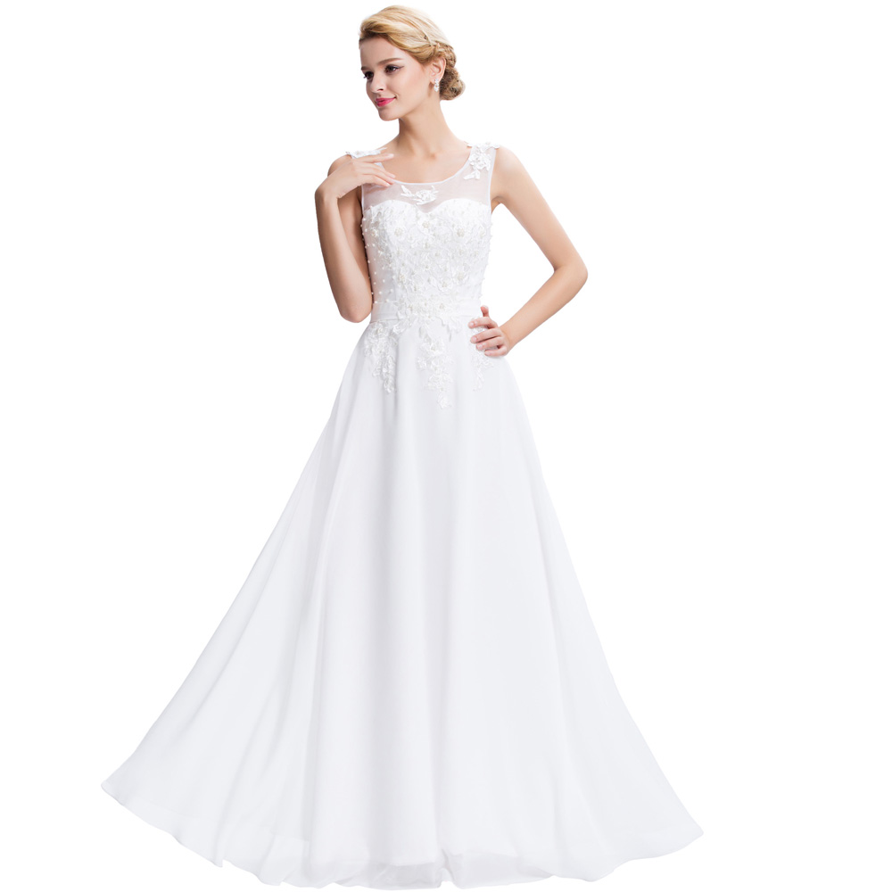 Long White Graduation Dresses Reviews - Online Shopping Long White ...