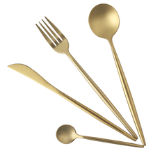 LEKOCH Gold Besteck Set Goldene Hadle 18/10 Edelstahl Besteck Gabel Messer Löffel Besteck-set Hochzeit Geschirr Set