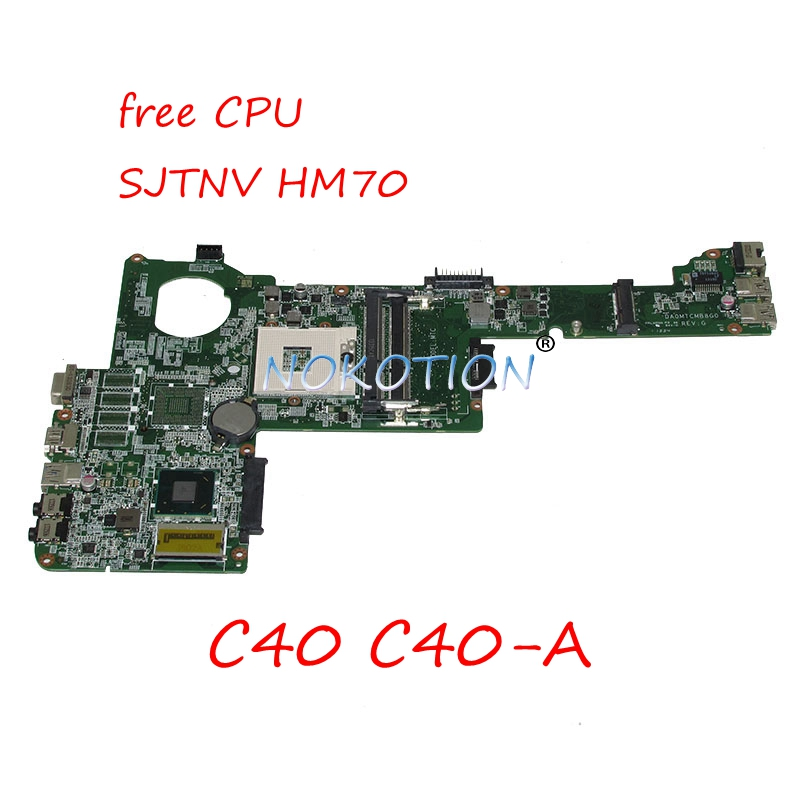 NOKOTION DA0MTCMB8G0 Laptop motherboard For Toshiba Satellite C40 C40-A SJTNV HM70 Main board Free CPU worksNOKOTION DA0MTCMB8G0 Laptop motherboard For Toshiba Satellite C40 C40-A SJTNV HM70 Main board Free CPU works
