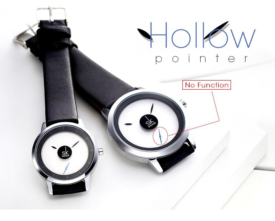 Shengke casal relógios moda quartzo-relógio de pulso