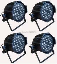 54*3W PAR Red + Green + Blue+ WHITE color stage lighting stage par64 lighting stage dj light 4 pieces