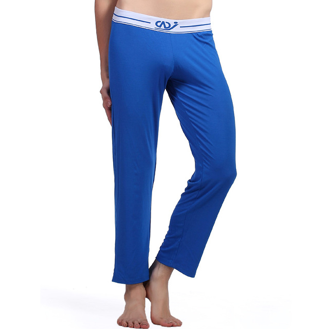 2016 Sleep Bottoms Mens Underwear Pajamas Trousers Long John Hombre Modal Spandex Lounge Pants Comfortable