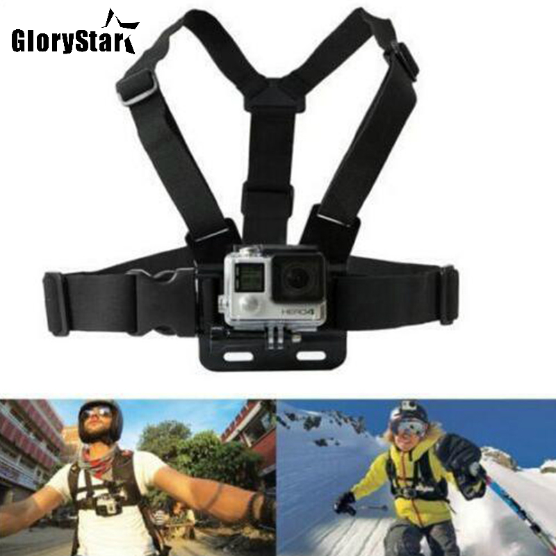 Chest Strap mount belt for Gopro hero 5 4 Xiaomi yi 4K Action camera Chest Mount Harness for Go Pro SJCAM SJ4000 sport cam fix