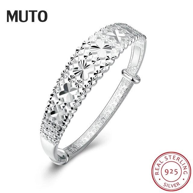 MUTO Qualidade Da Marca Designer Original 925 Prata Pulseiras de prata Pulseira Para As Mulheres Do Floco De Neve SVSZ3872