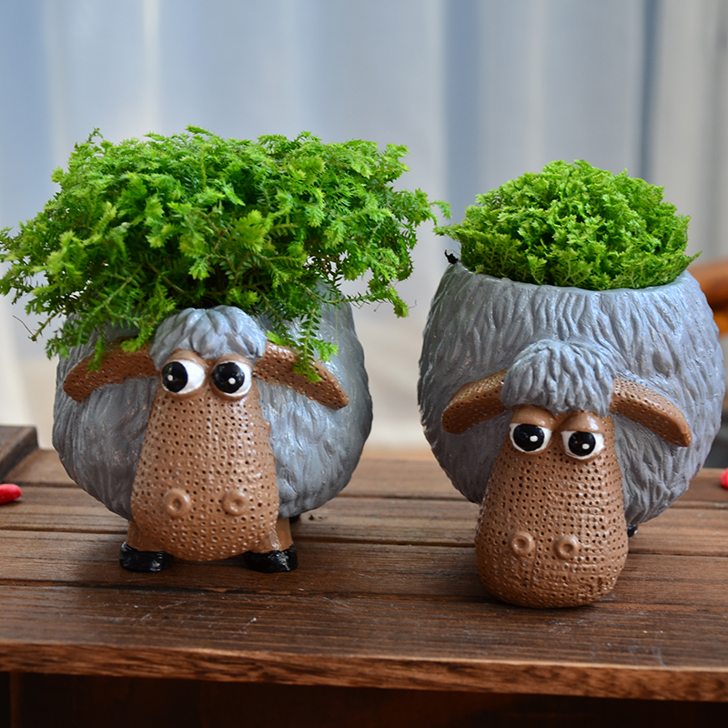 Ceramic Planter Pot Flower Pot Lovely Animal Tabletop Mini