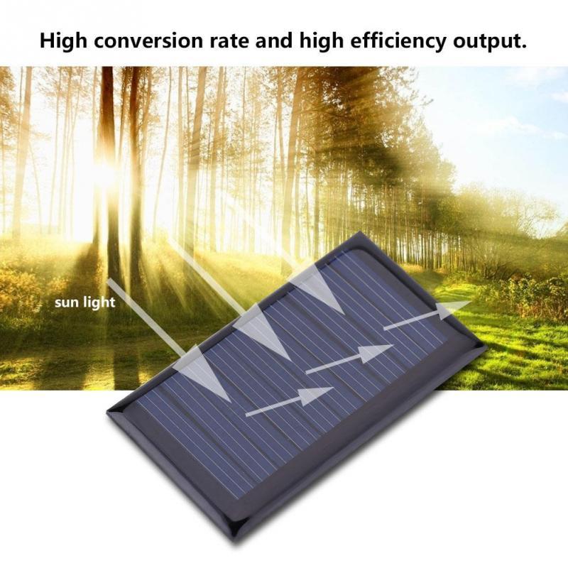 10pcs 30mA 5V Solar Panel Standard Epoxy Polycrystalline Silicon DIY Battery Power Charge Module 2.09 x 1.18in Mini Solar Cell