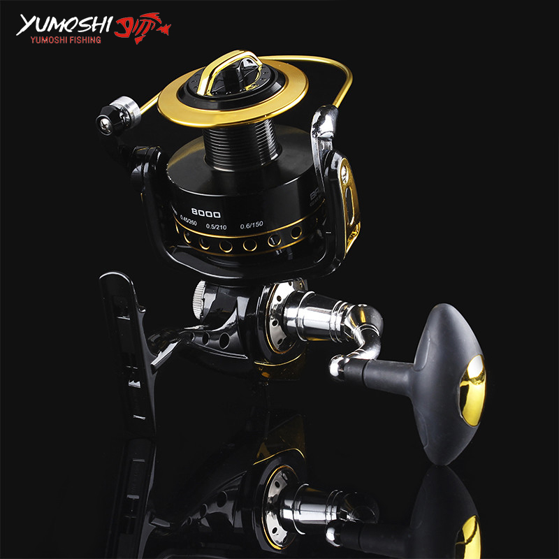 2017 11 Bearing Spinning Fishing Reel 6000 8000 10000 Speed G-Ratio 4.2:1 Spinning Casting Fishing Reel Freshwater Saltwater