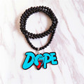 Fashion Jewelry Long Beads Chain Hip Hop Round Charm Pendant Necklace Blue DOPE Good Wood Hiphop Necklace Jewelry