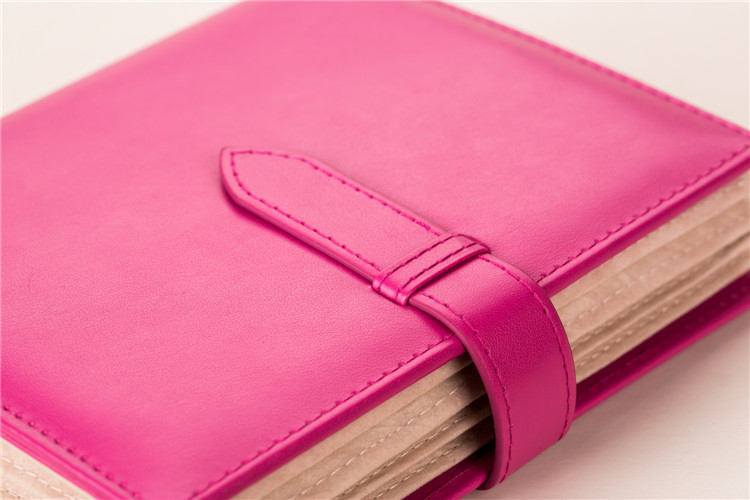 1 pcs pu leather travel folding 4 page 42 pair earring storage book