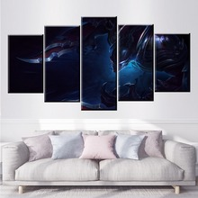 5 Panel LOL League of Legends Nocturne Game Canvas Printed Painting For Living Room Wall Art Decor HD Picture Artworks Poster