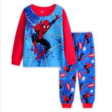 От 2 до 8 лет дети мальчик супергерой Халк Человек-паук Железный человек пижамы комплект одежды для сна детские пижамы с героями мультфильмов детские новогодние пижамы