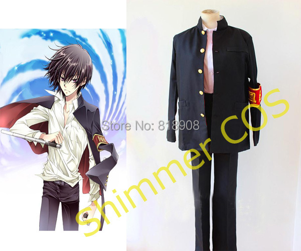 Japanese anime katekyo hitman reborn cosplay costumes Hibari Kyoya costume cosplay Halloween costume