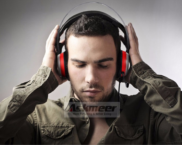 Xiberia X12 USB Gaming Headset Surround Sound Noise Canceling Luminous LED Light Over ear Headphones with Microphone for PC (13)