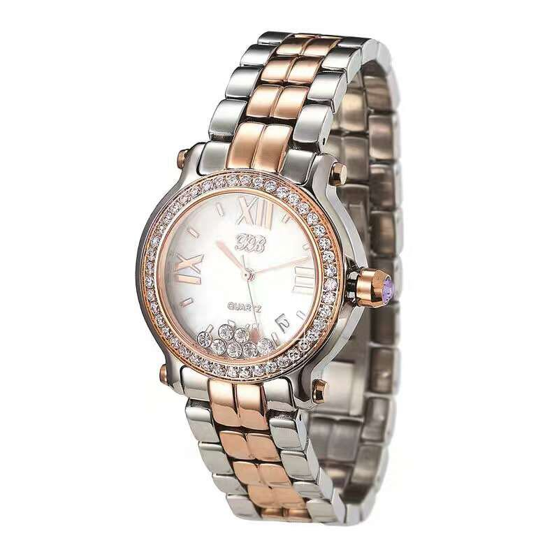 Princess Butterfly Women Rose Gold Two-Tone Stainless Steel Band Watch Luxury lady Mother of Peal Dail Crystal Business Watch часы dkny ny2289 two tone gold