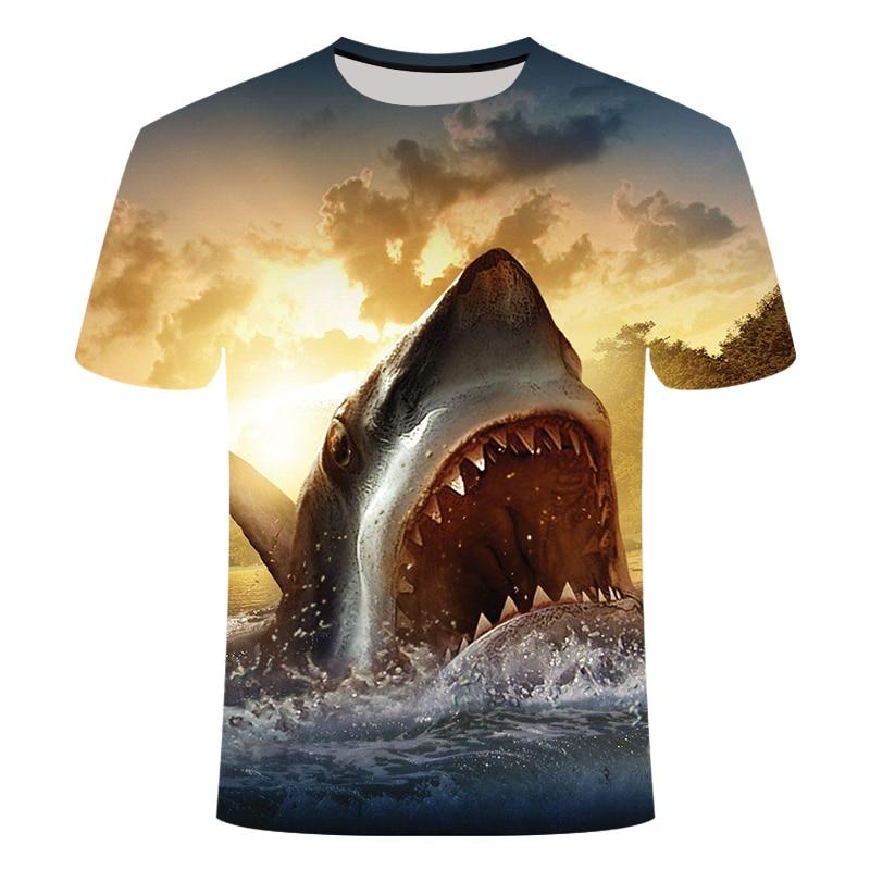 2019 Fish 3d T Shirt Men Hip Hop Tshirt Fisherman Tropical Print T-shirt Funny T Shirts Summer Fishinger Animal Mens Clothing