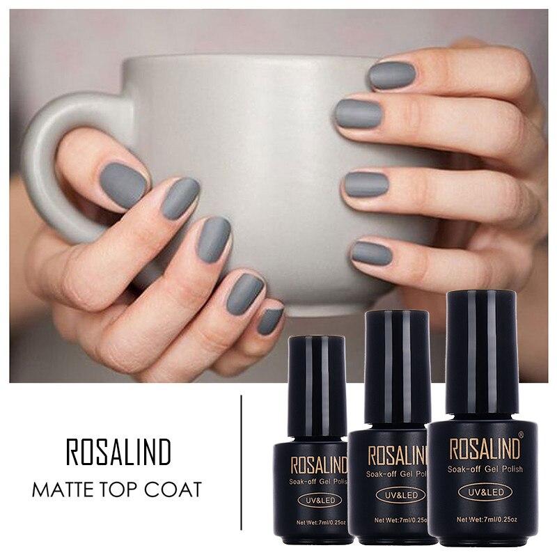 Black Gel Nail Polish: Rosalind Matt Top Coat Gel Nail Polish Black Bottle 7ML