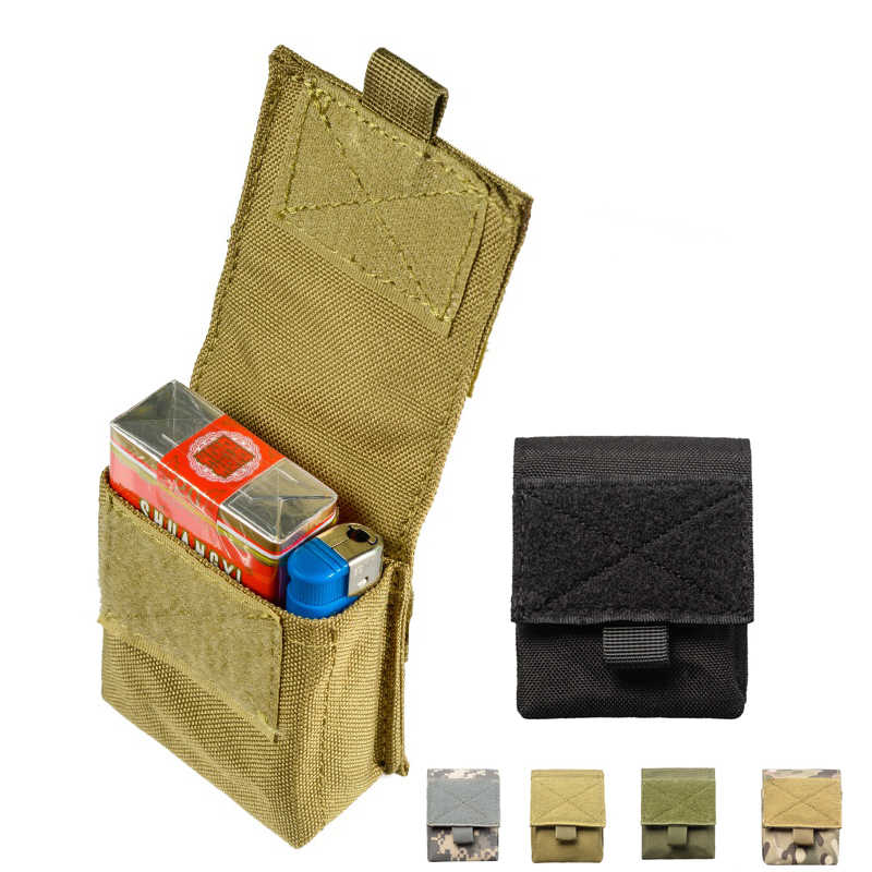 Military Molle Pouch Tactical Single Pistol Magazine Pouch Sheath Airsoft Hunting Ammo Camo Bags 1000D