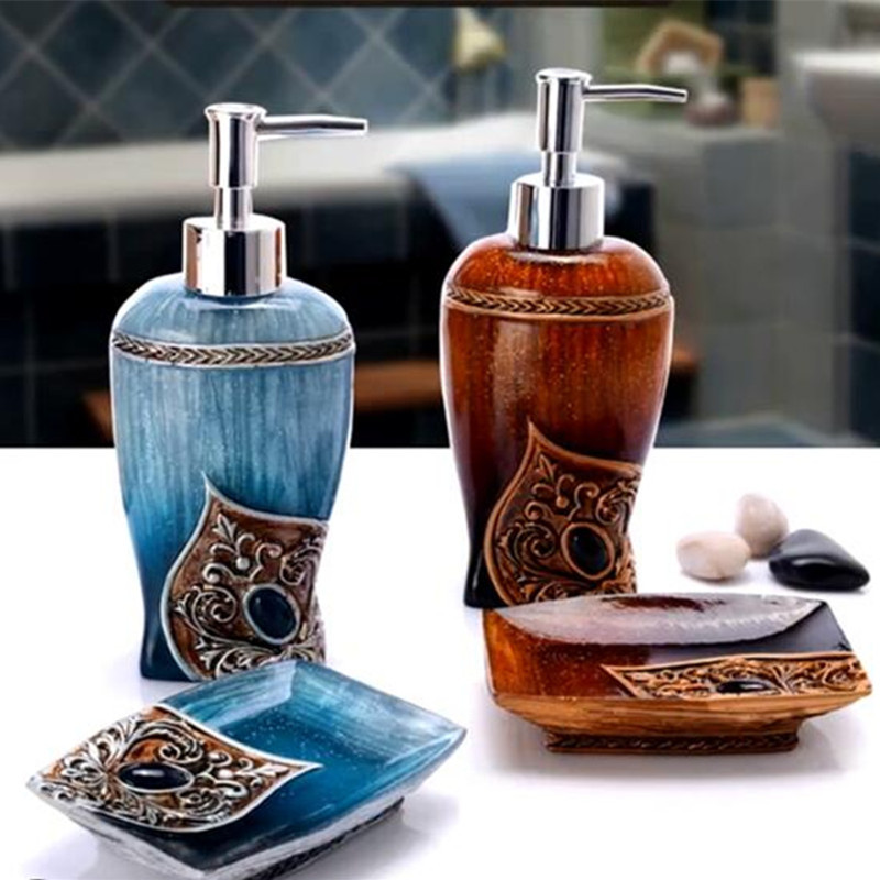 decorative bathroom accessories sets. 2 Set banheiro hand sanitizer bottle resin soap box bathroom accessories  washbasin Decoration Soap decorative car Picture More Detailed about