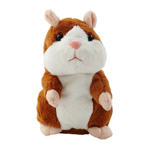 15cm Lovely Talking Hamster Speak Talk Sound Record Repeat Stuffed Plush Animal Kawaii Hamster Toys Children Kids Birthday Gifts(China)