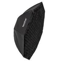 Godox 120 см восьмиугольная Вспышка Speedlite студийный фото светильник мягкая коробка с сеткой сотовой Зонт софтбокс Bowens mount