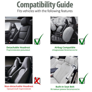 Image 5 - AUTOYOUTH 2pcs Universal Car Seat Covers   Front Seat Covers Mesh Sponge Interior Accessories T Shirt Design   for Car/Truck/Van