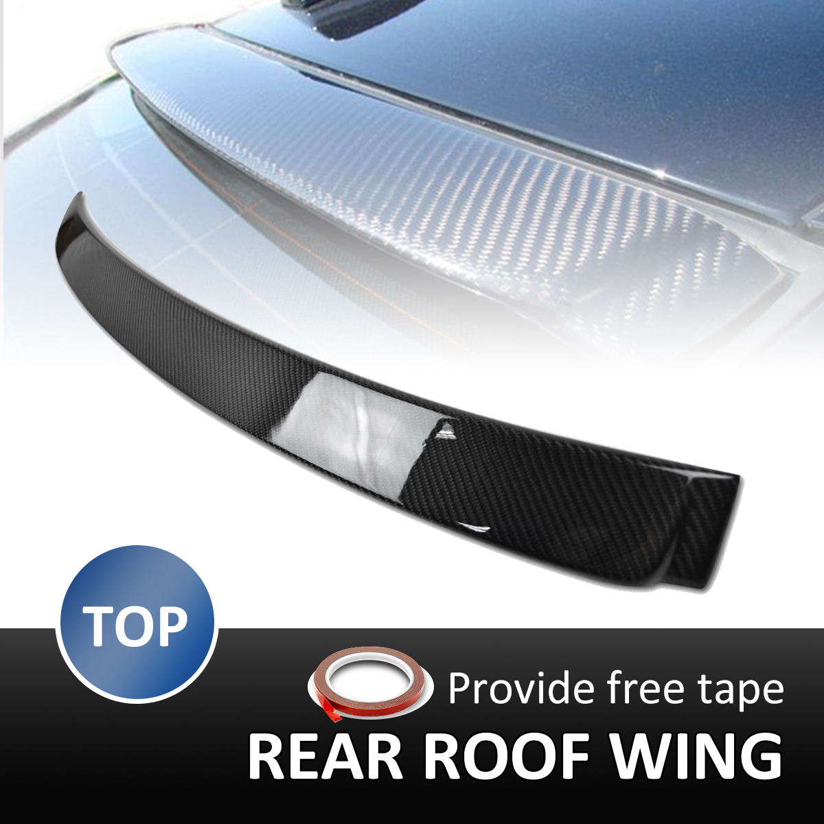 Real Carbon Fiber Rear Roof Wing Trunk Spoiler For BMW 3 Series E90 325i 323i 2005-2012 AC Style Rear Wing Spoiler Rear Trunk carbon fiber rear spoiler trunk boot wing for audi a7 s7 s line 2012 2015 jc style car tuning parts