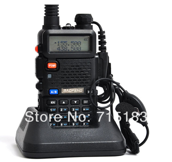 Portable BAOFENG UV-5R Walkie Talkie 136-174/400-520Mhz Dual Band UHF/VHF 2 Way Radio amateur radio UV5R with free Earpiece