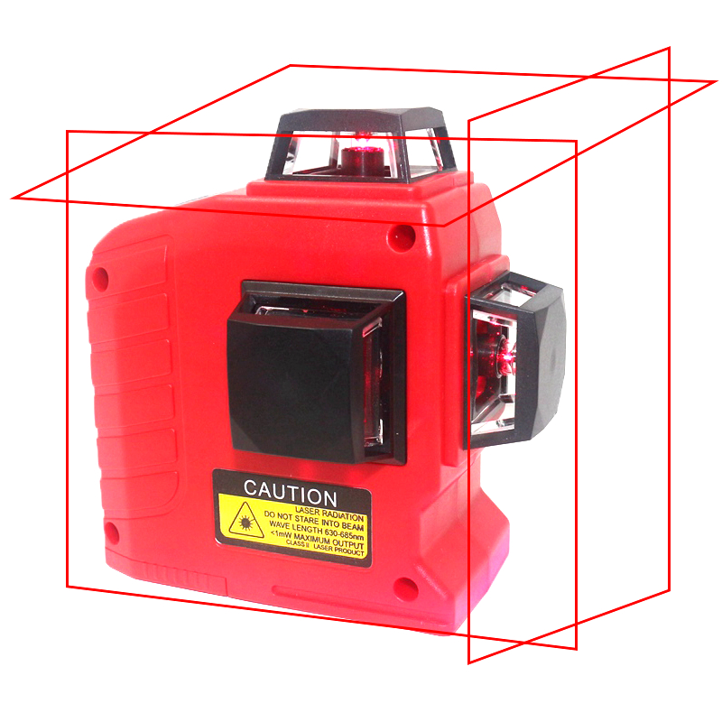 12 Lines 3D Laser Level Self-Leveling 360 Horizontal And Vertical Cross Super Powerful Red Laser Beam Line With Tilt Slash Mode