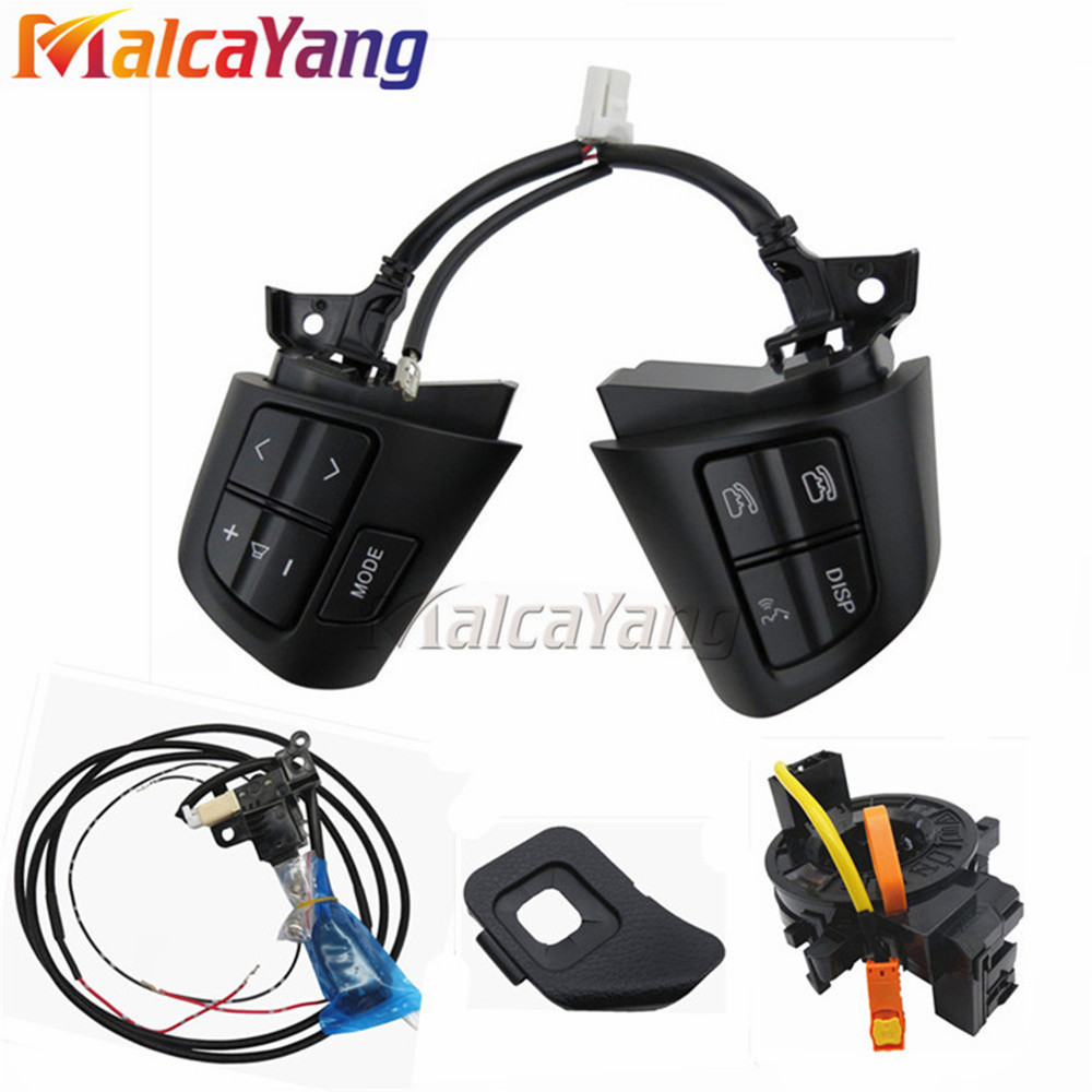High quality Cruise Control Switch steering wheel control buttons with cables For TO YOTA COR OLLA