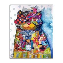 5D DIY Diamond Painting Cartoon Cross Stitch Flower Cat Embroidery Home Decoration