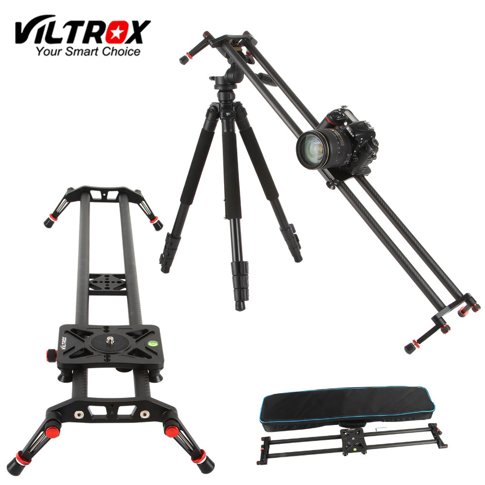 Viltrox VC-80 80cm Carbon Fiber 6 Bearings DSLR Camera DV Slider Track Video Stabilizer Rail Dolly for Video DSLR Camcorder viltrox universal ll 162vb dslr camera led light for camera dv camcorder