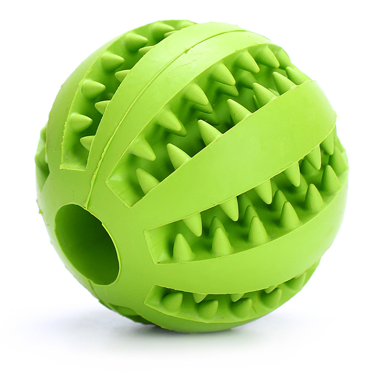 Pet Dog Toy Interactive Rubber Balls Pet Dog Cat Puppy Chew Toys Ball Teeth Chew Toys Tooth Cleaning Balls Food AA 2