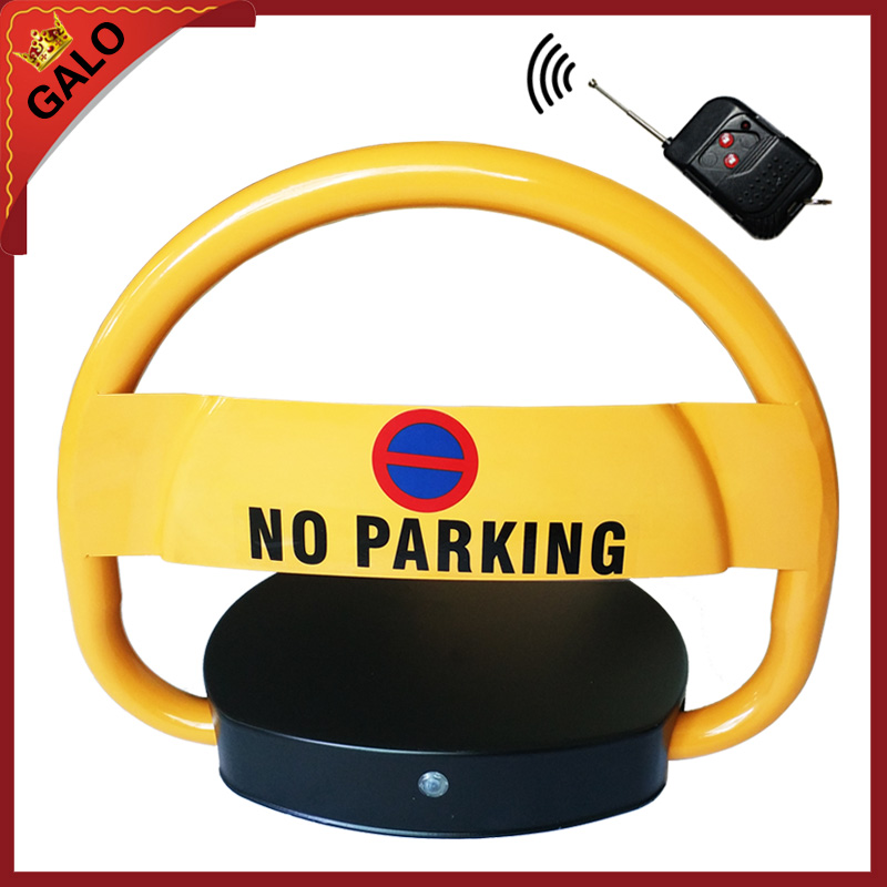 Outdoor parking lock remote control is automatically turned on Place parking spaces LOCK