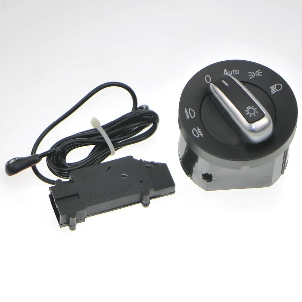 Hot 1Set New Auto Headlight Sensor + Chrome Switch Kit 5ND 941 431 B for VW Golf Jetta MK5 MK6 GTI 5 6 Tiguan Passat B6 Rabbit